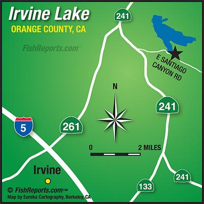 Irvine Lake Map Irvine Lake   Fish Reports & Map