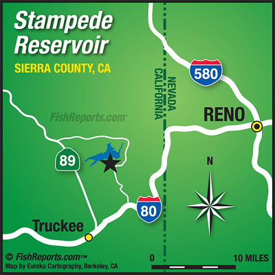 Stampede Reservoir - Fish Reports & Map