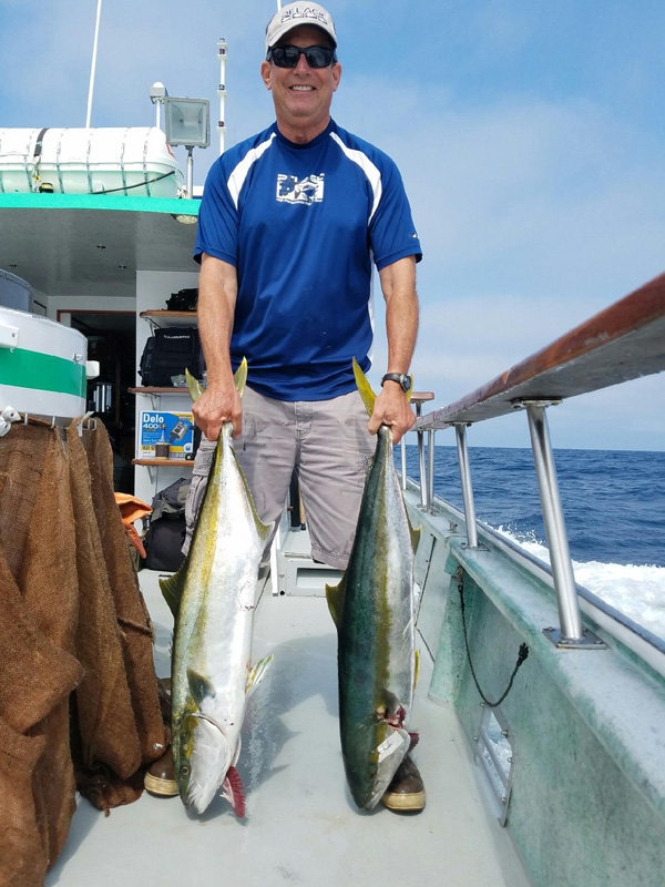 California yellowtail counts by boat july 29 2016 for Oxnard fish count