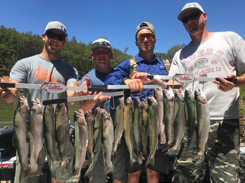 Shasta trinity and whiskeytown lakes fishing reports for Lake shasta fishing report
