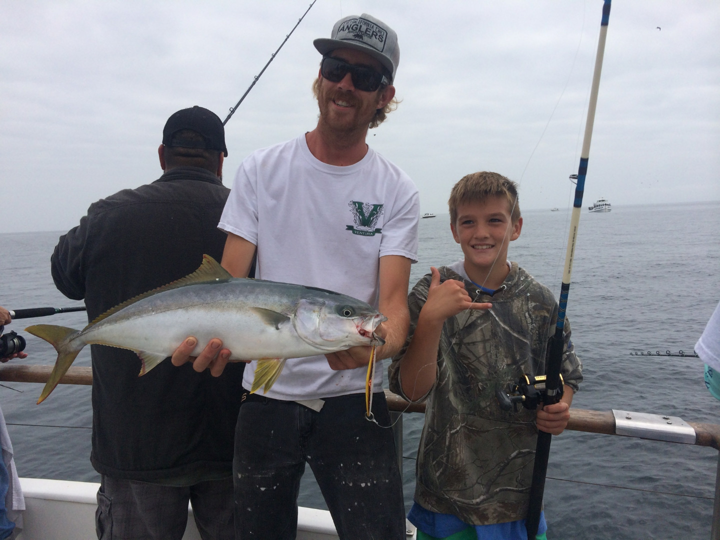 California yellowtail counts by boat september 17 2017 for Point loma fish count