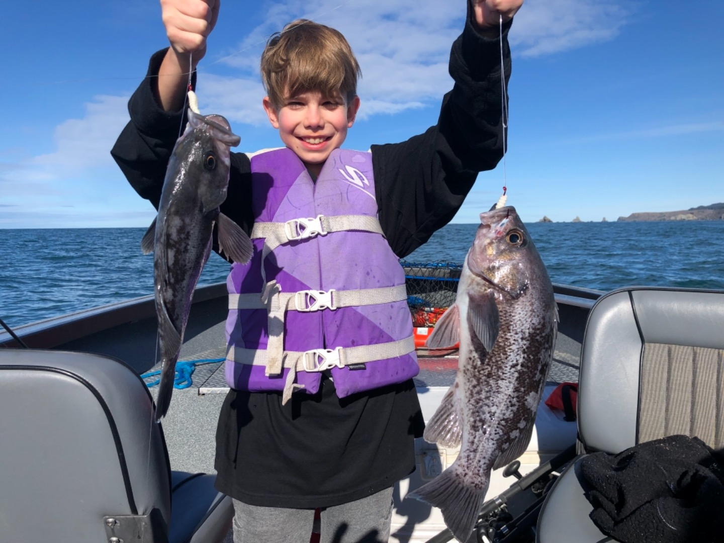 Lingcod wide open out of Brookings