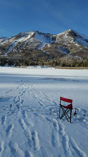 Red lake fish report hope valley ca alpine county for Ice fishing report