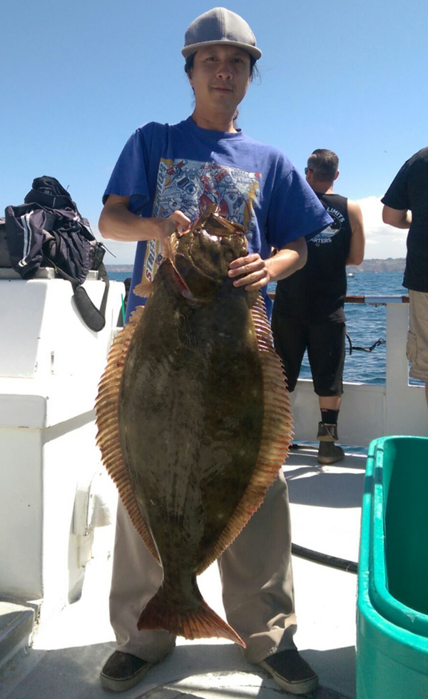 California halibut counts by boat may 22 2016 for Fish counts san diego
