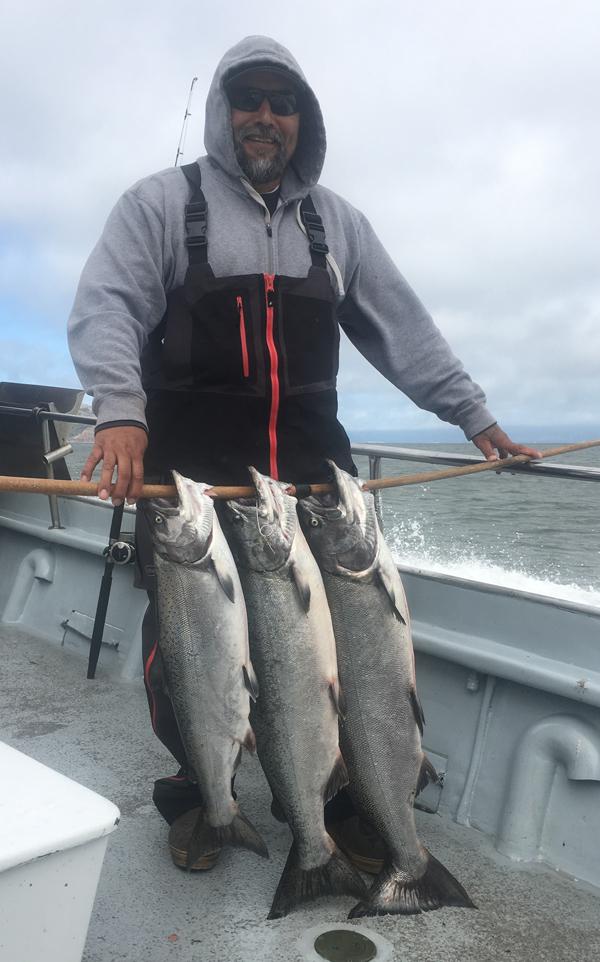 Marin coast fish report marin county for Trinity bay fishing report