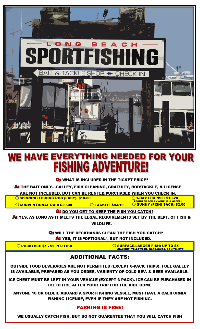 Berth 55 Landing Long Beach Sportfishing Fish Counts