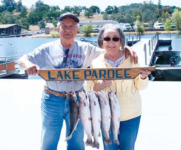 Pardee reservoir fish reports map for Blue creek fishing report