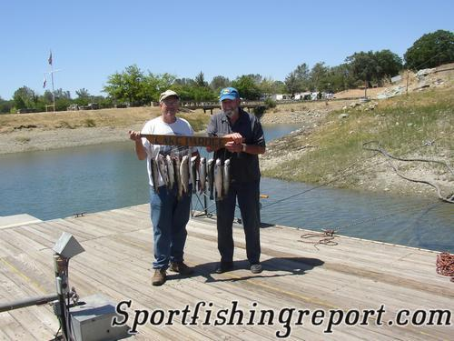 Pardee reservoir fish report ione ca for Lake pleasant fishing report